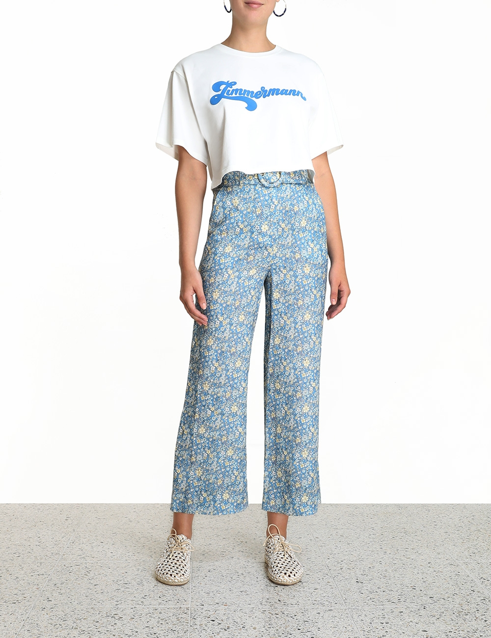 Carnaby Flocked Boxy Crop