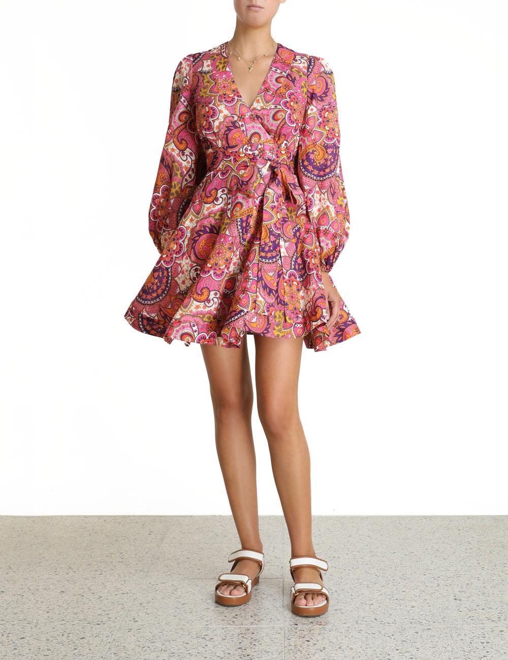 Fiesta Wrap Short Dress