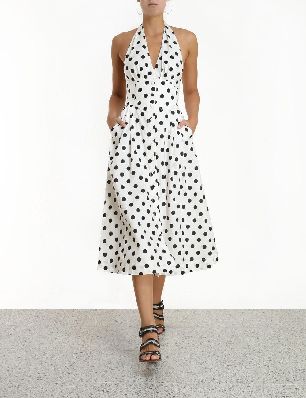 Bellitude Halter Midi Dress
