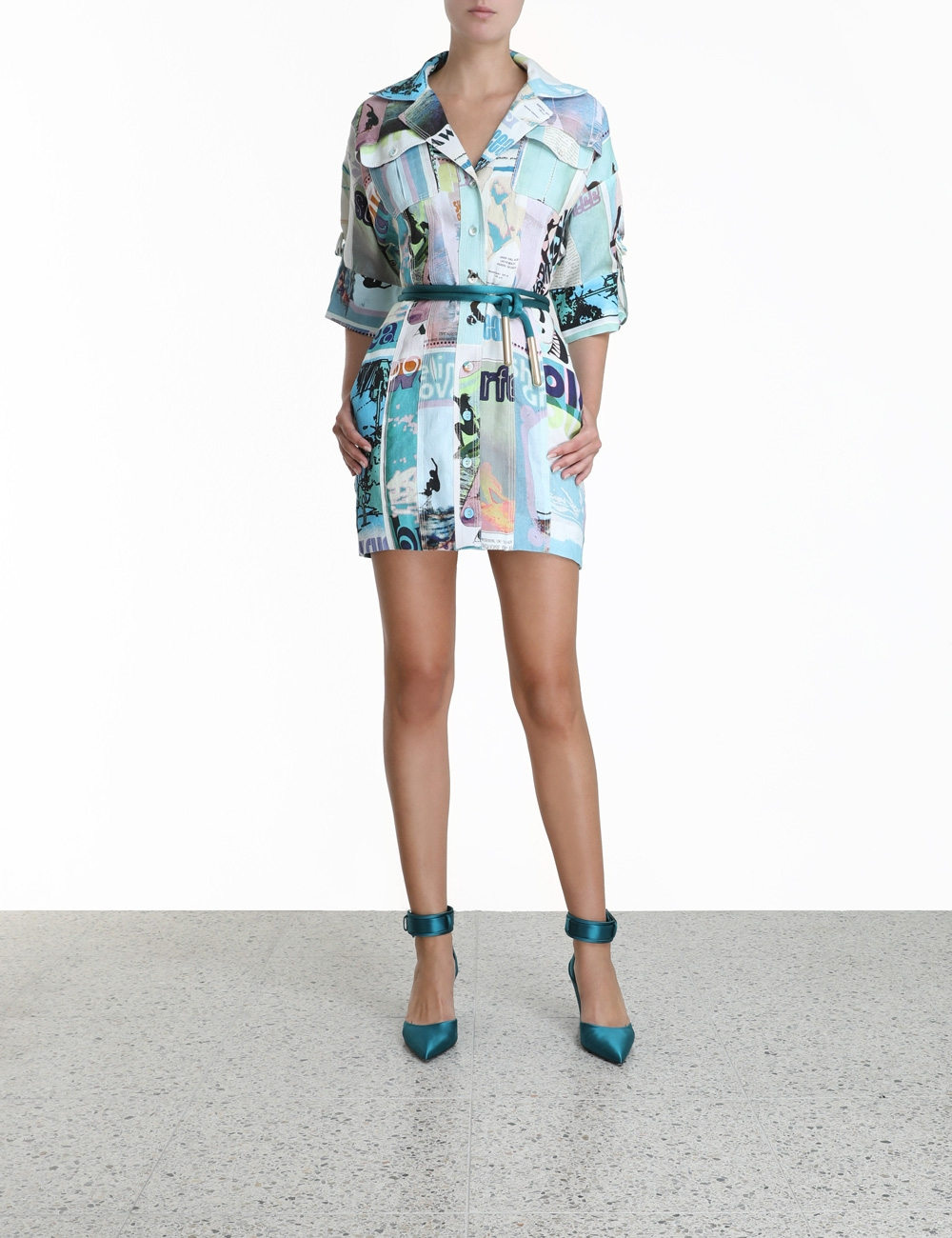 Glassy Safari Mini Dress