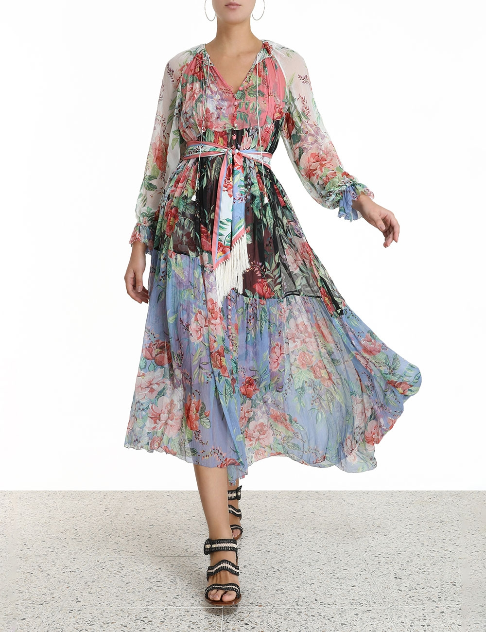 Bellitude Spliced Long Dress