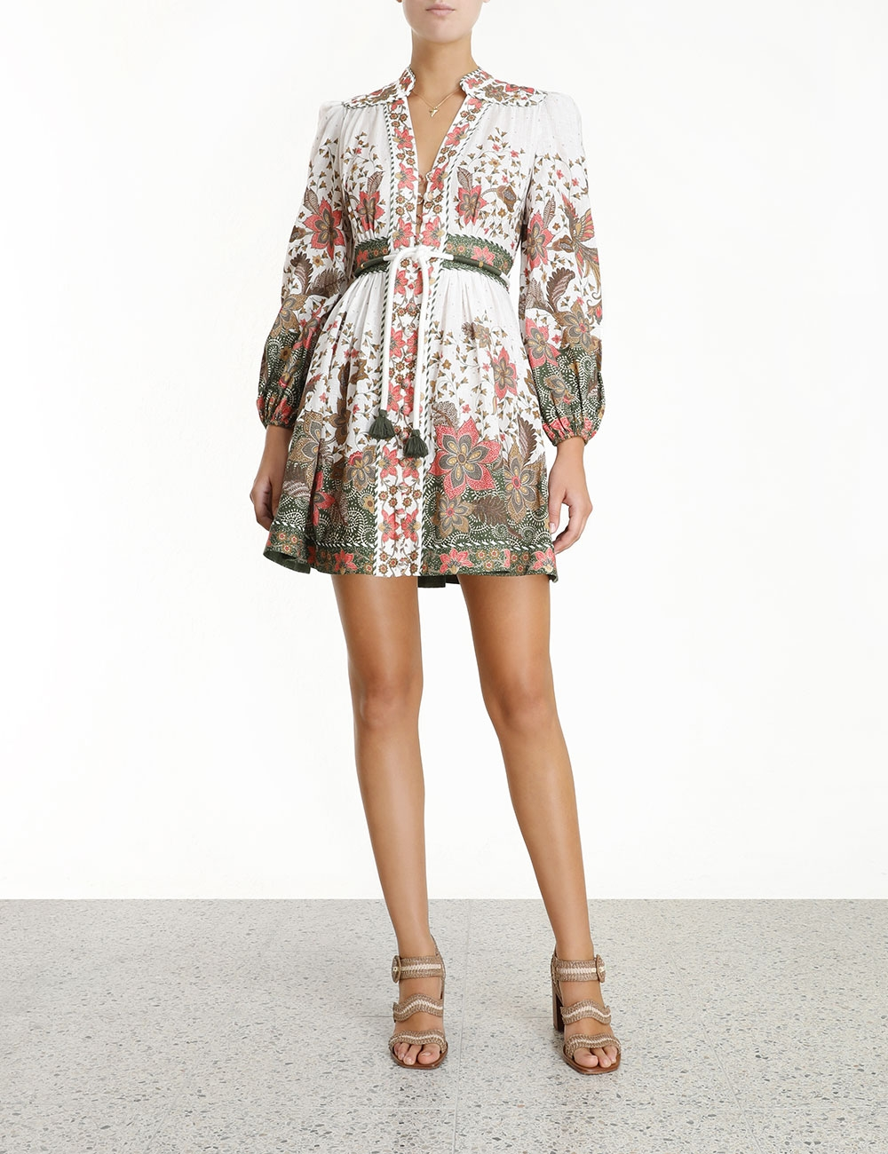 Empire Batik Short Dress