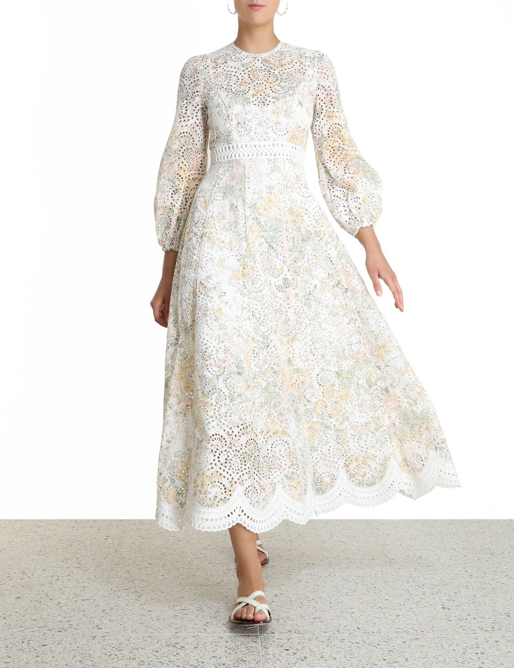 Amelie Embroidered Long Dress