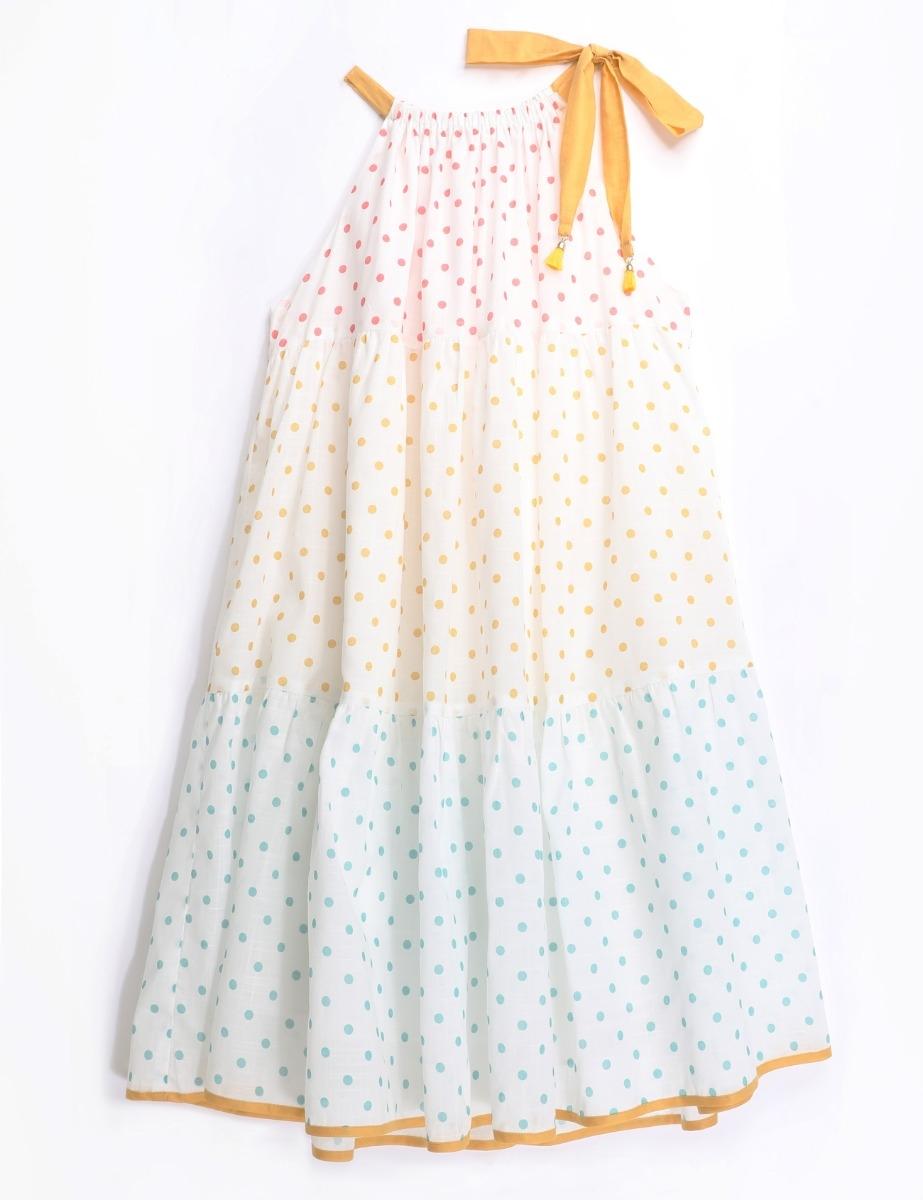 Bellitude Halter Tiered Dress