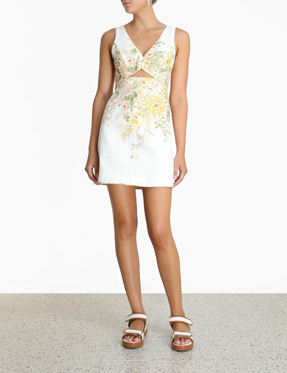 Amelie Cut Out Short Dress