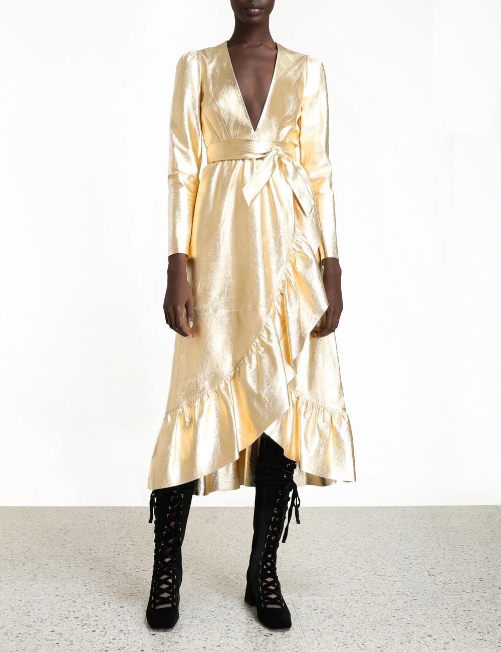 Ladybeetle Leather Dress