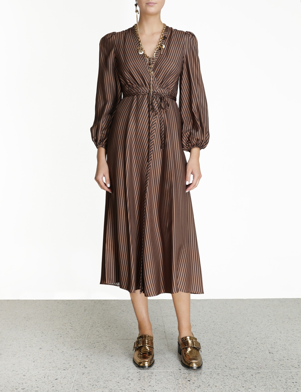 Silk Twill Wrap Dress