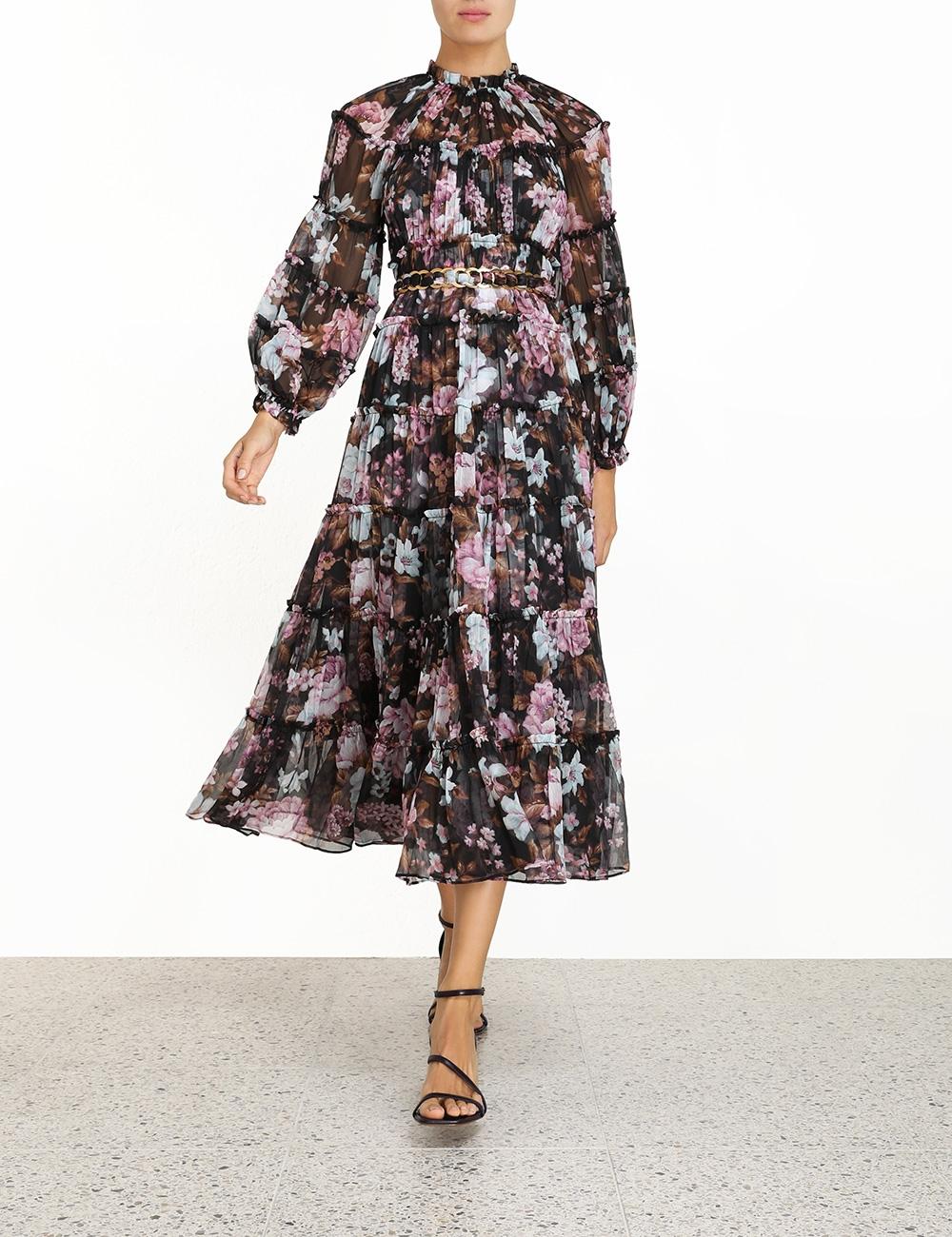 Charm Tiered Midi Dress