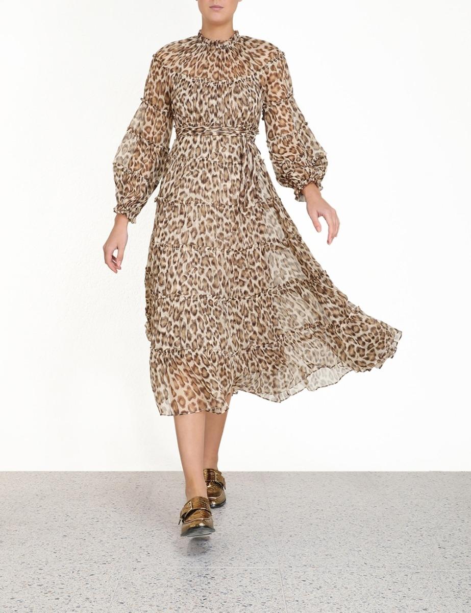 Ladybeetle Tiered Midi Dress