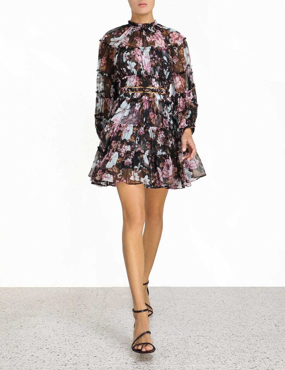 Charm Tiered Mini Dress