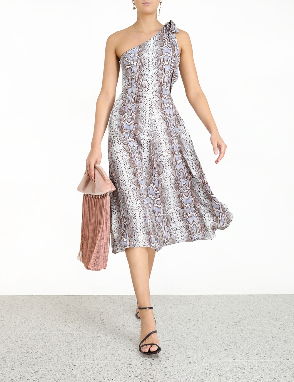 Silk Tie Picnic Dress
