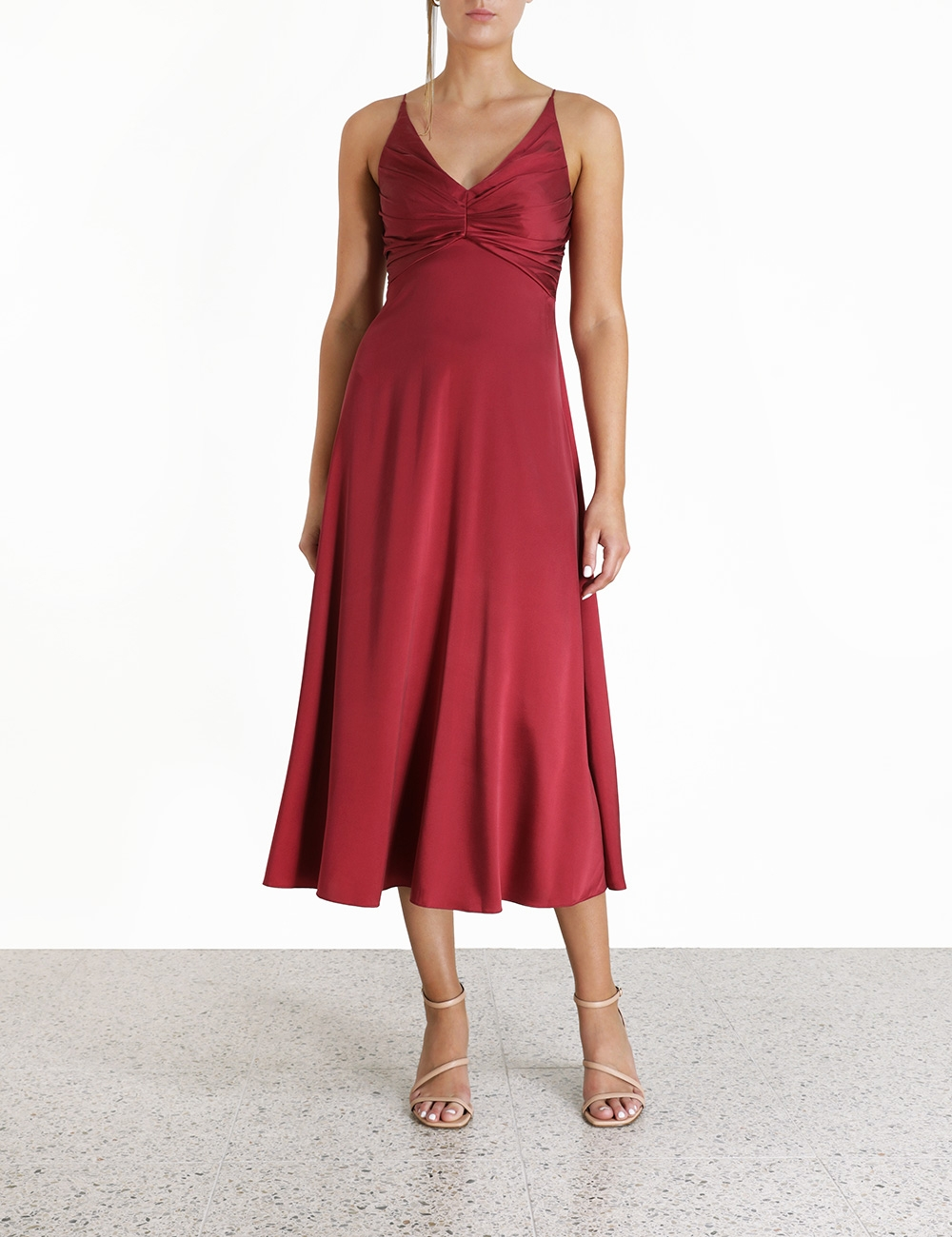 Silk Ruched Picnic Dress