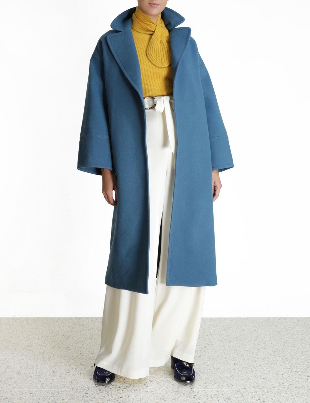 Ladybeetle Barrel Wool Coat