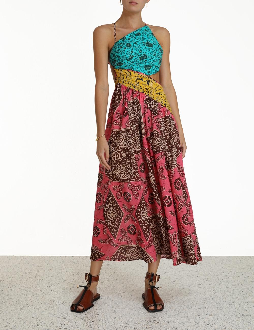 Lulu Asymmetric Ruched Dress