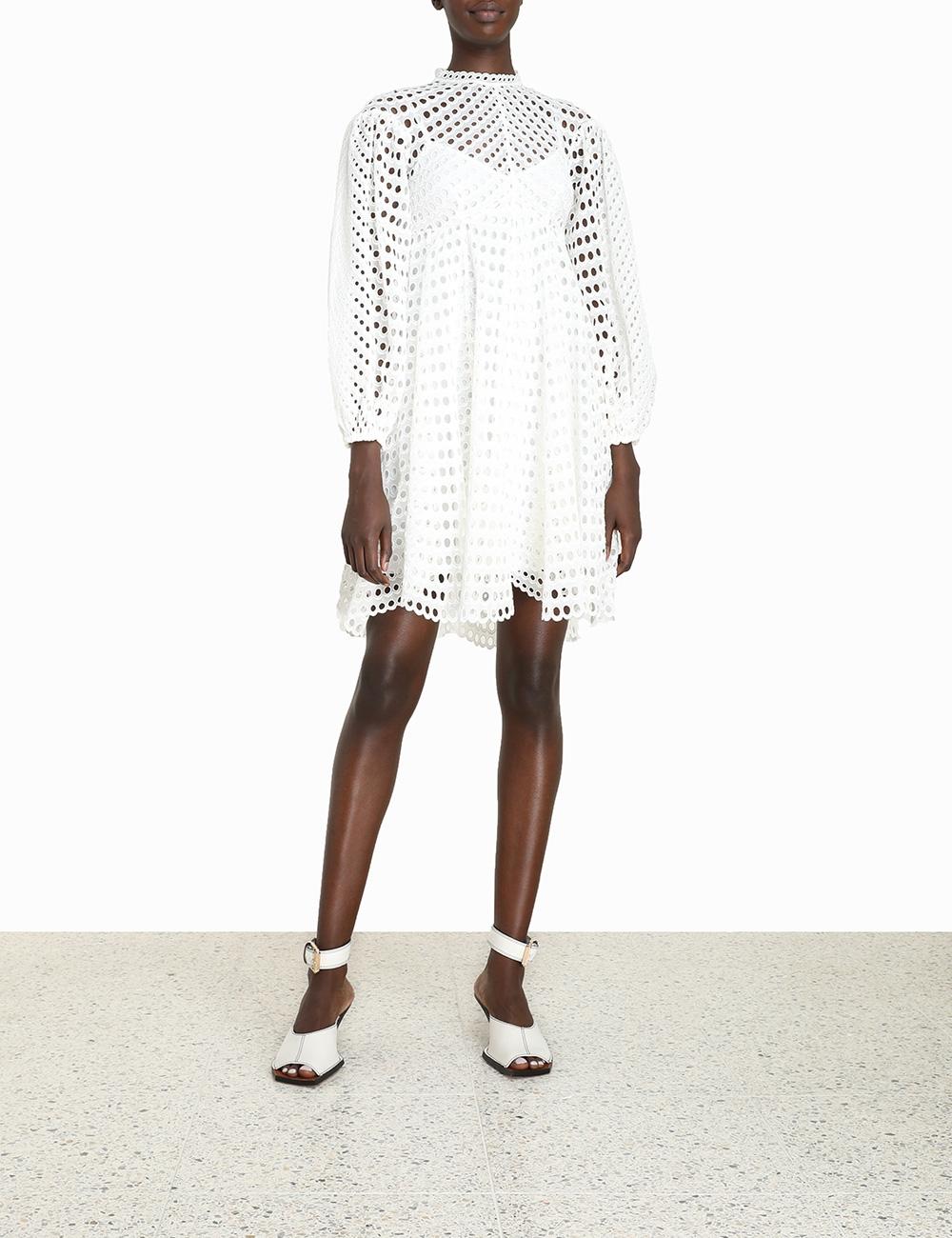 Poppy Eyelet Short Dress
