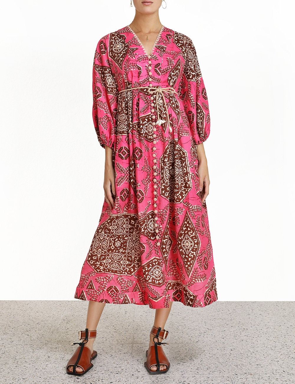 Lulu Plunge Midi Dress