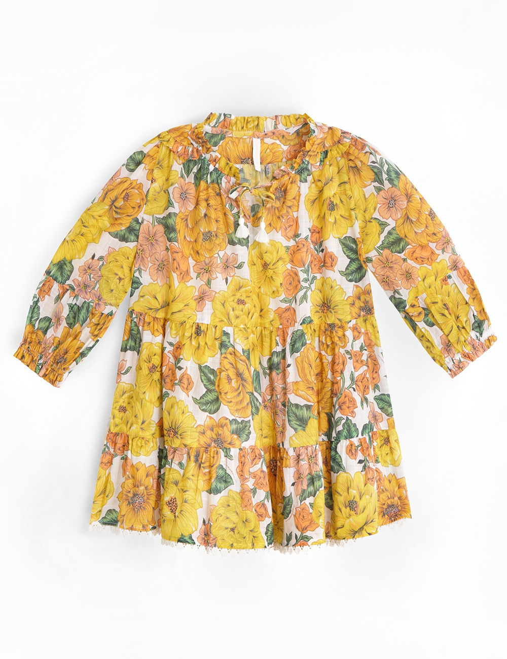 Poppy Long Sleeve Tiered Dress
