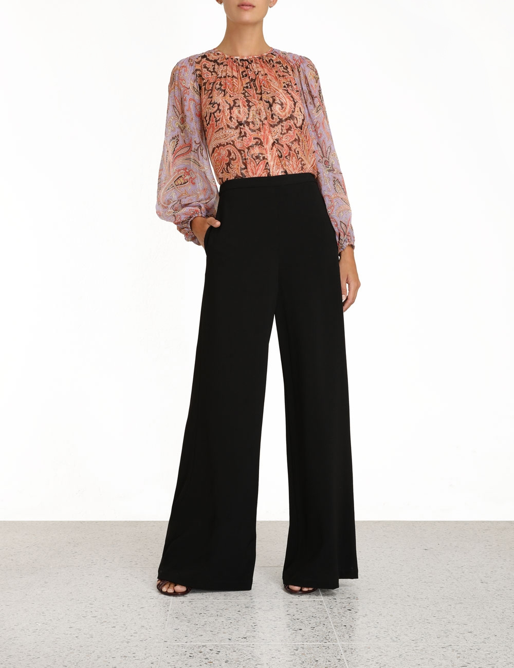 Stretch Crepe Pants