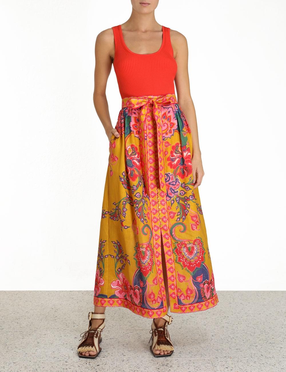 The Lovestruck Buttoned Skirt