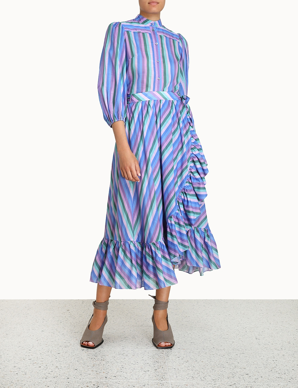 Poppy Frill Wrap Midi Skirt