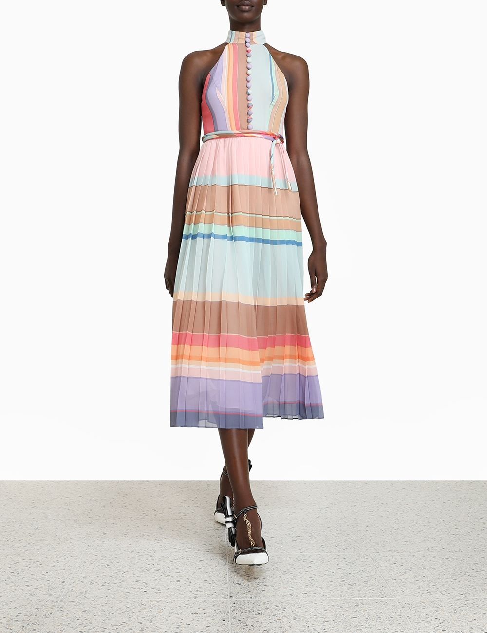Pleated Picnic Dress