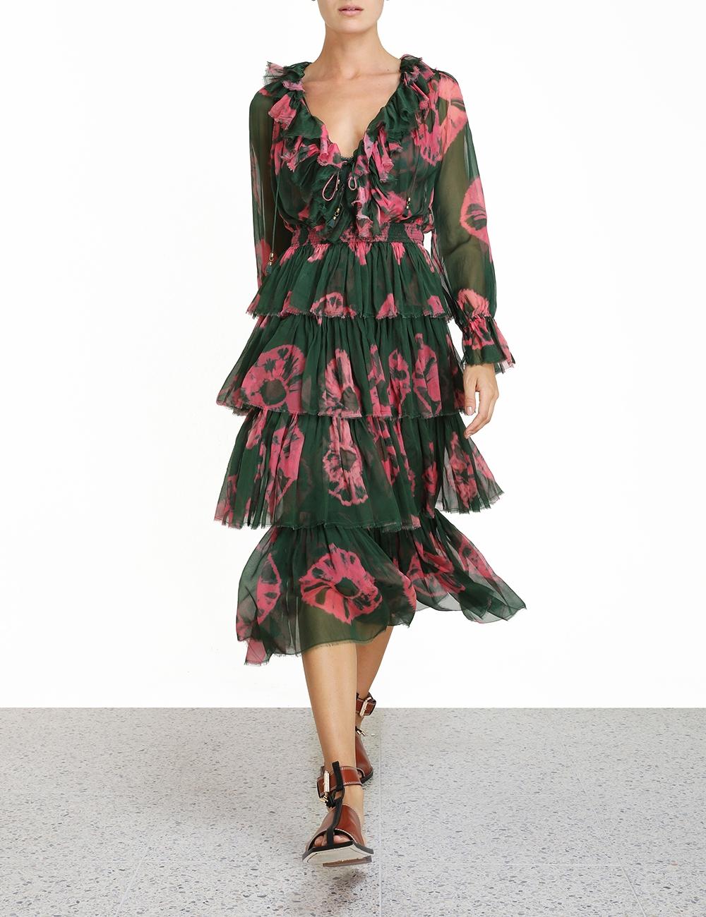 Poppy Tiered Frill Dress