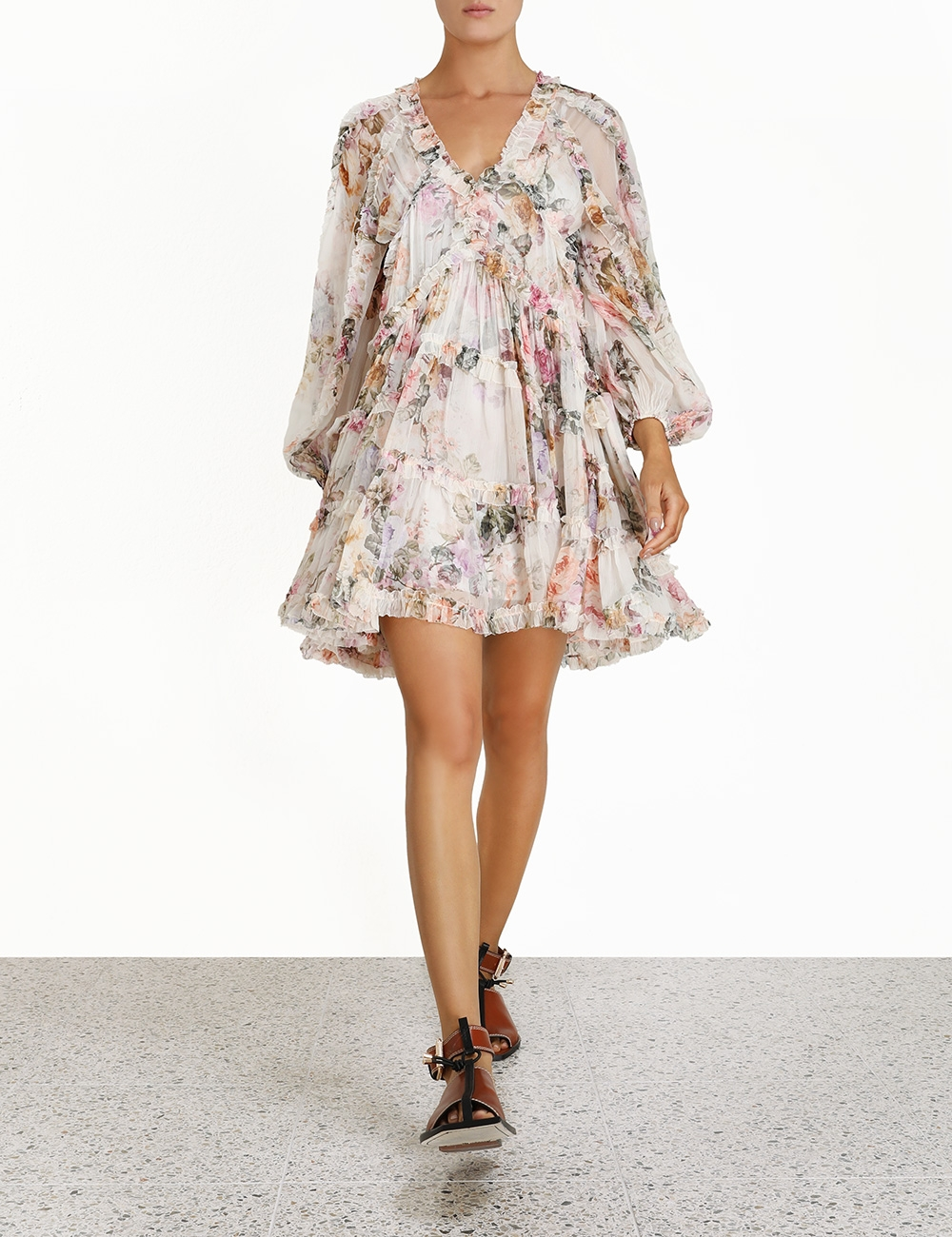 Brighton Frill Billow Dress