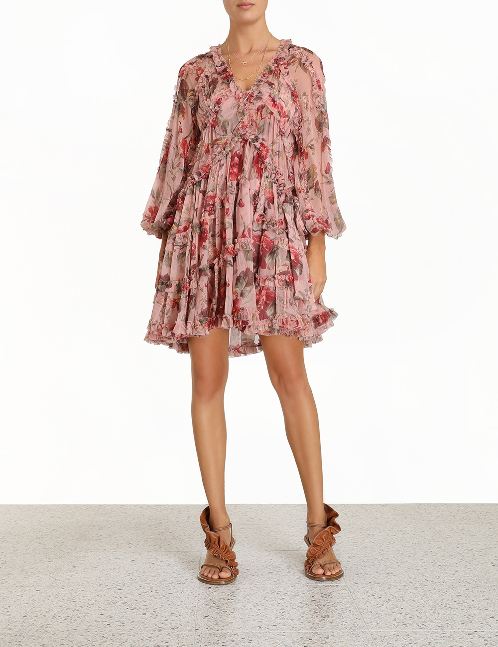 Cassia Frill Billow Dress