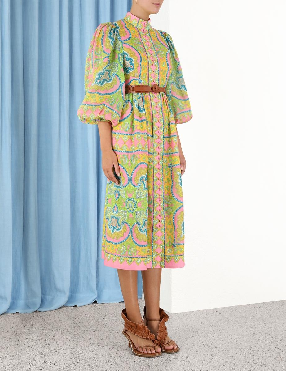 Estelle Buttoned Midi Dress