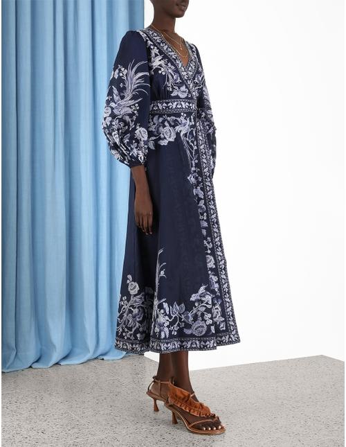 Aliane Wrap Long Dress