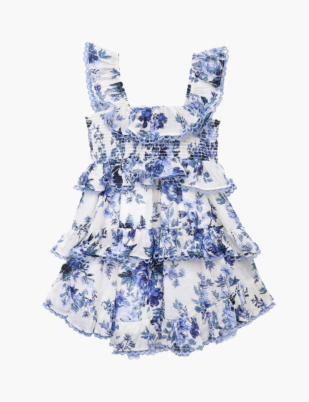Aliane Ruffle Tiered Dress