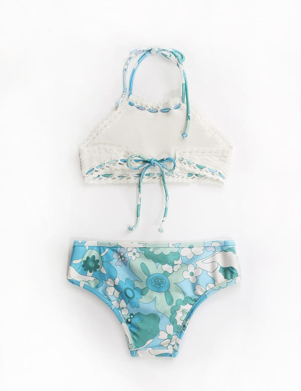Bells Crochet Halter Bikini