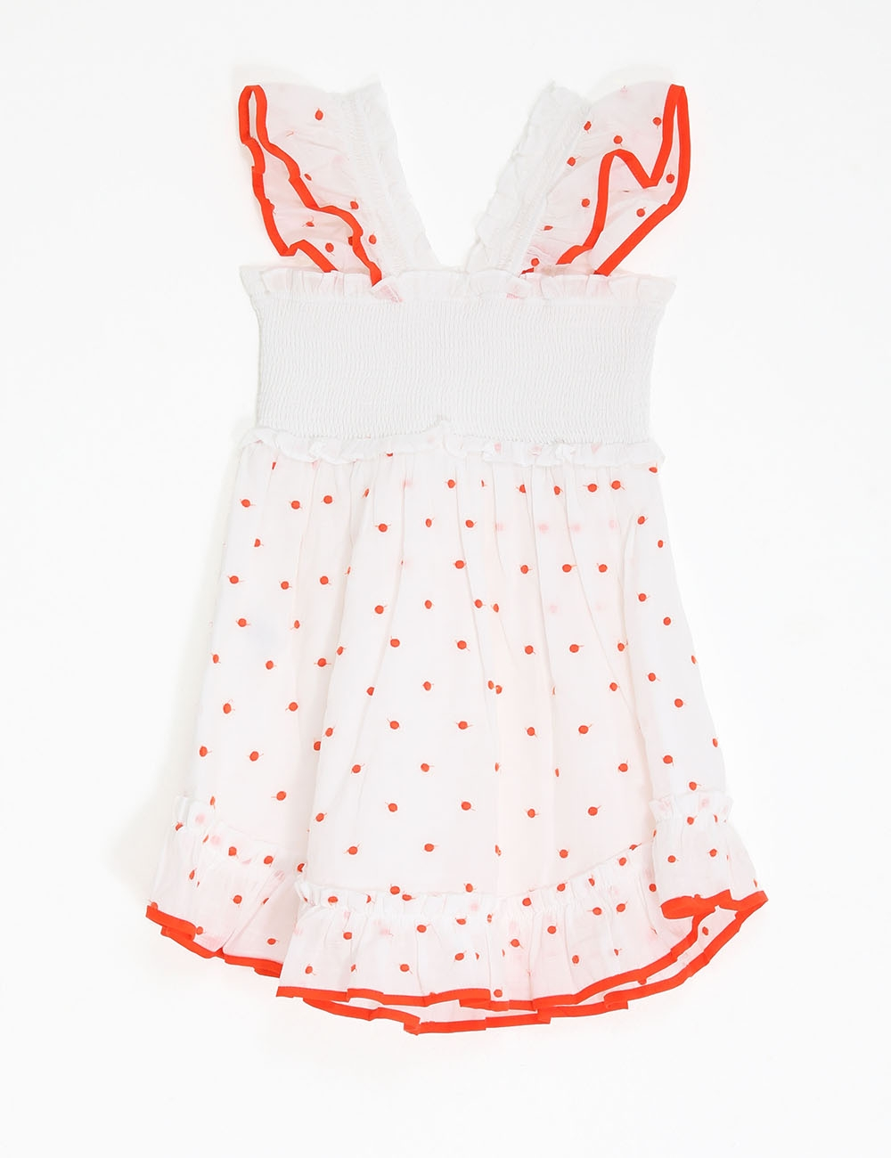 Estelle Shirred Ruffle Dress