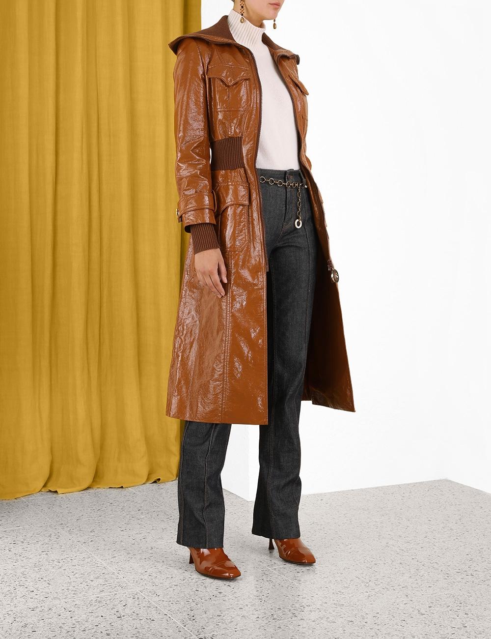Tempo Ribbed Long Line Coat