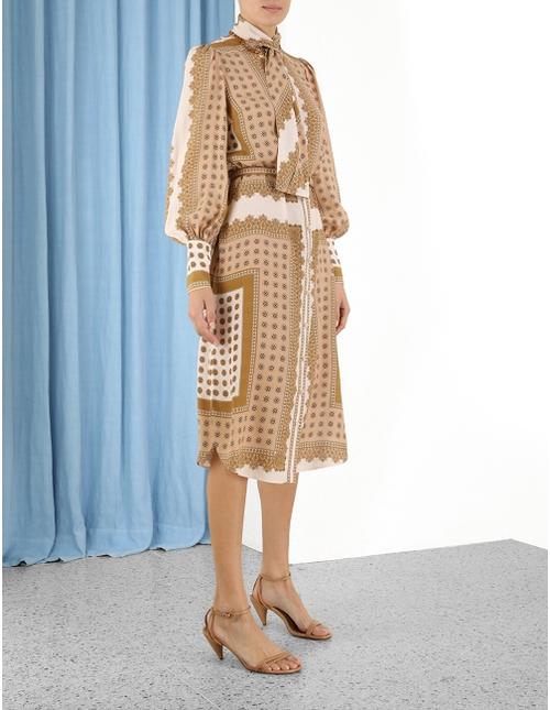 Scarf Midi Dress