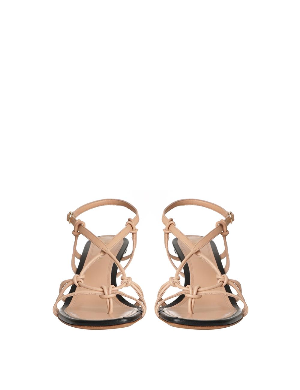 Knotted Strap Heel Sandal