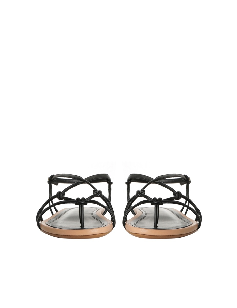Knotted Strap Flat Sandal