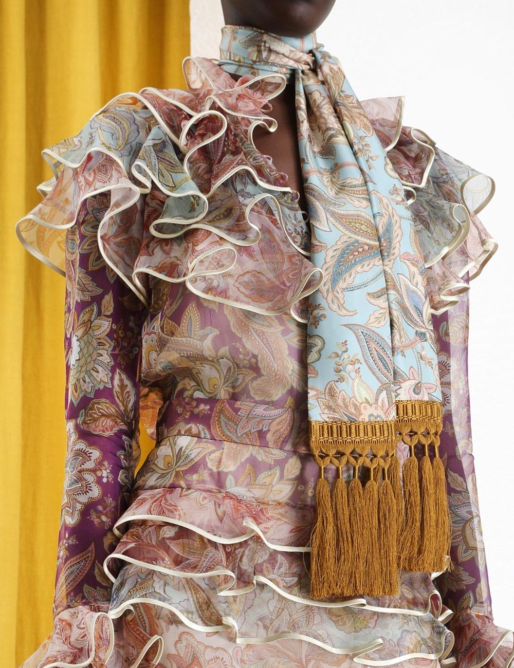 Silk Skinny Tassel Scarf