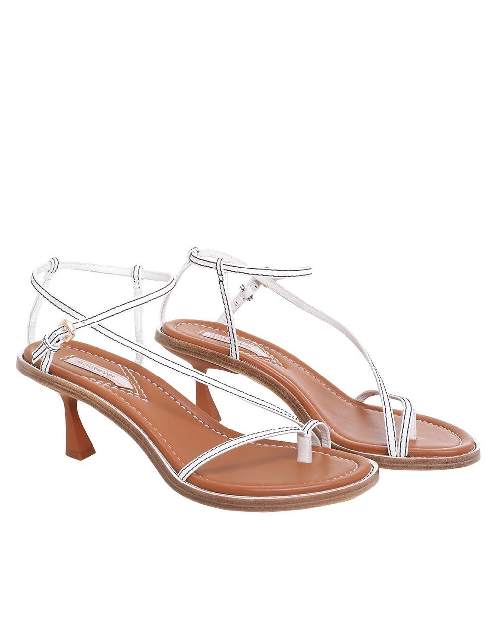 Skinny Strap Heeled Sandal