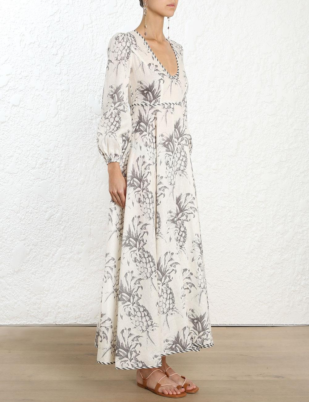 Wayfarer Plunge Long Dress