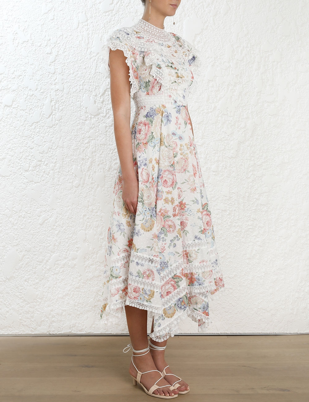 Bowie Pintuck Cascade Dress