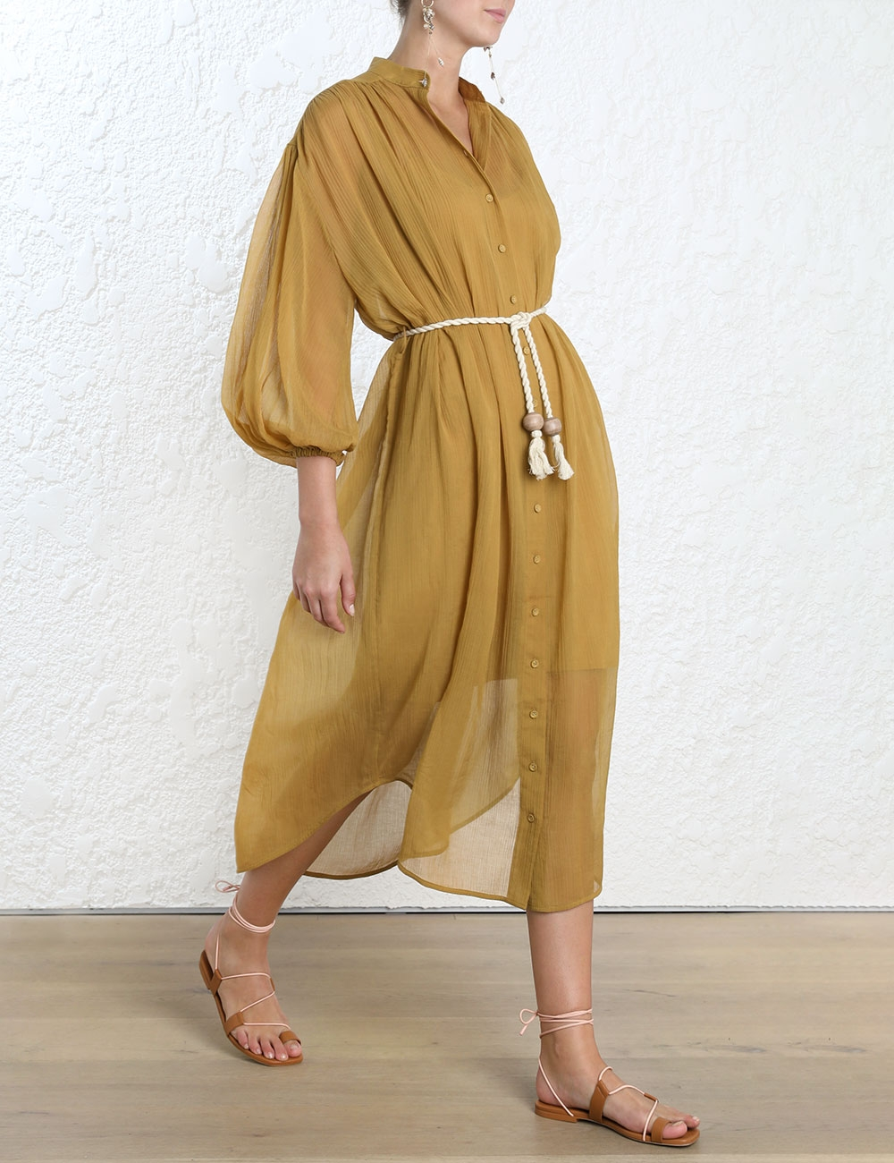 Wayfarer Crinkle Shirt Dress