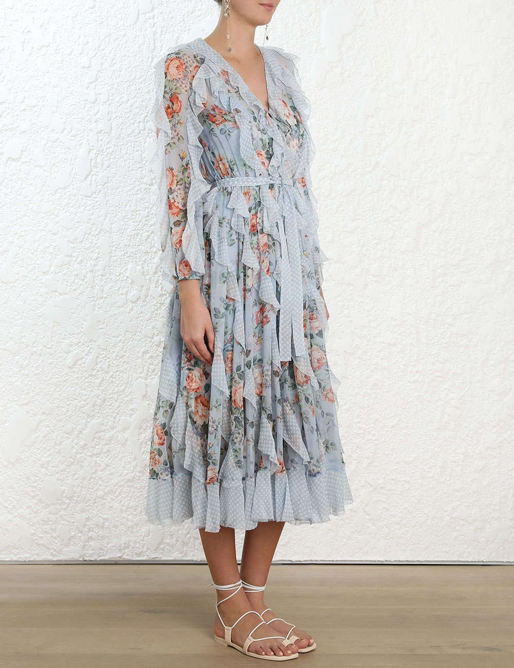Bowie Waterfall Long Dress