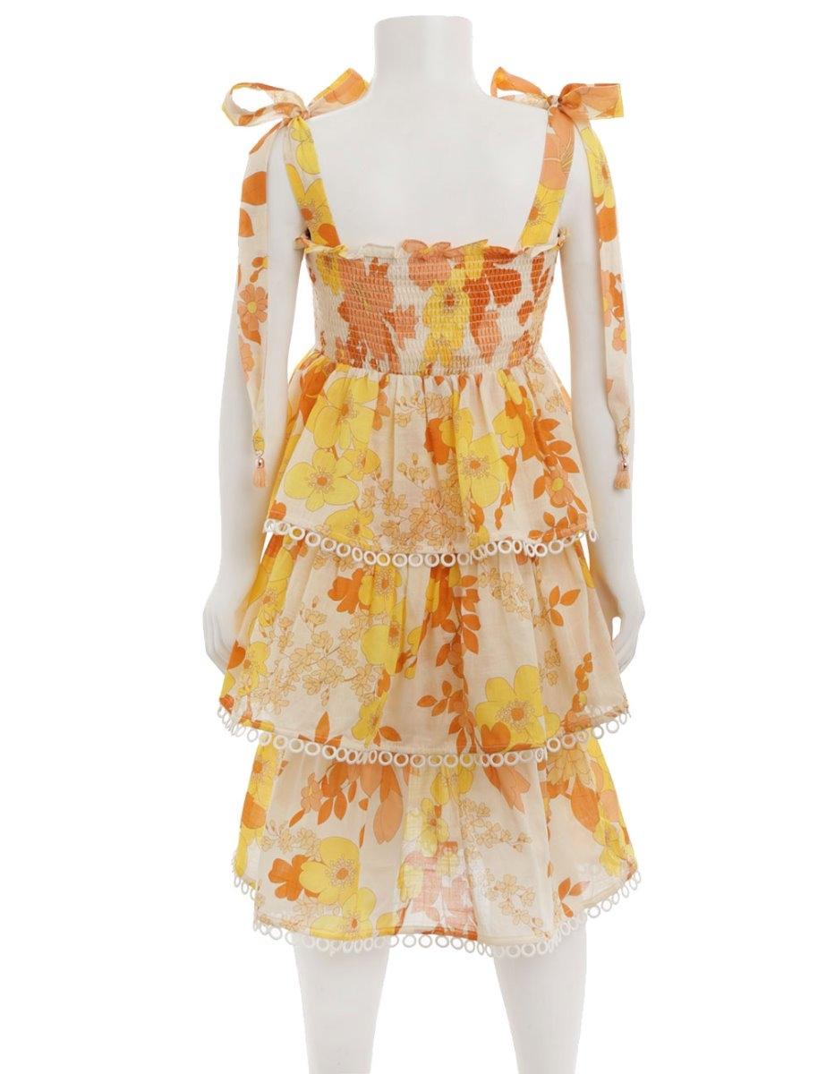 Primrose Shirred Tiered Dress