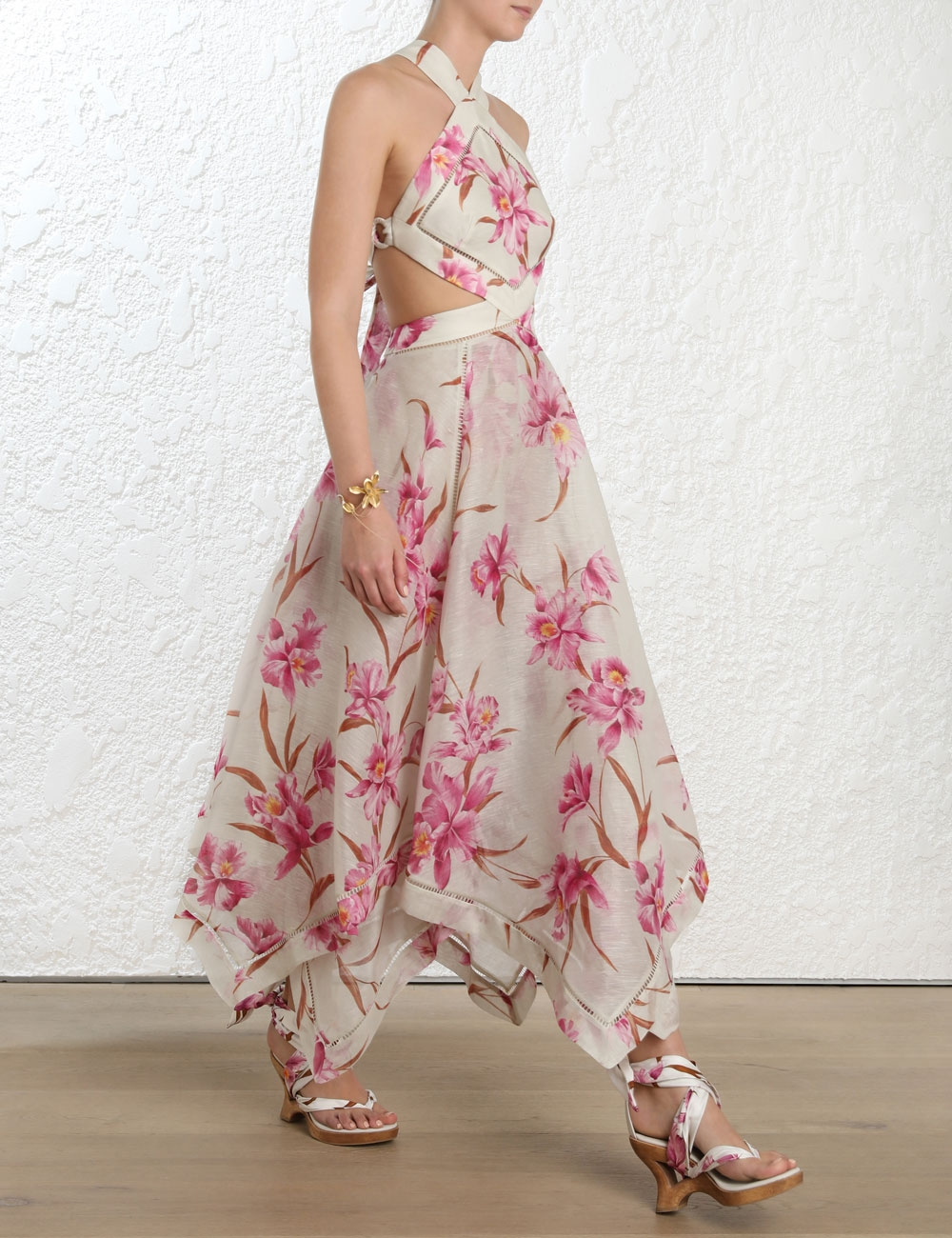 Corsage Halter Dress