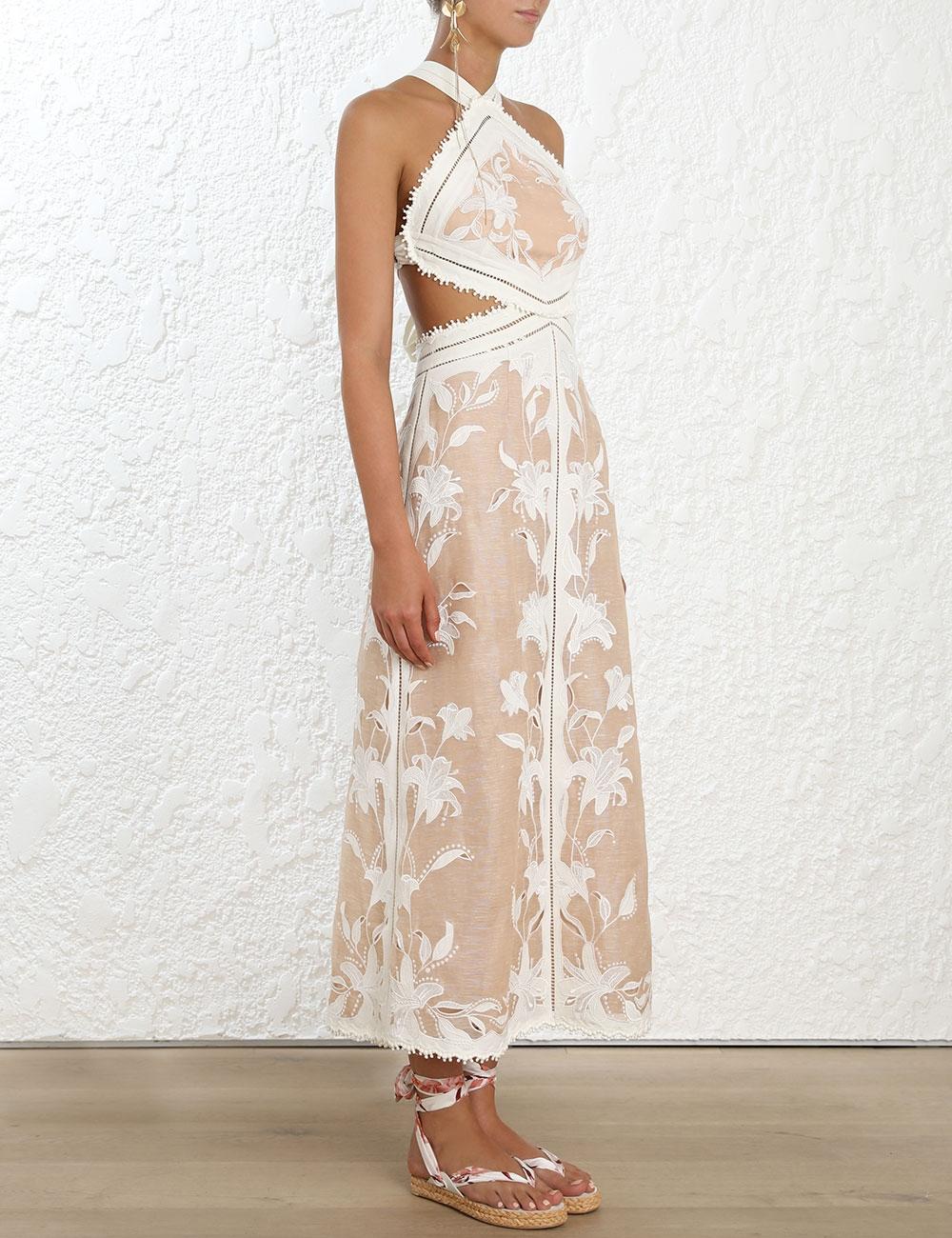 Corsage Lily Midi Dress