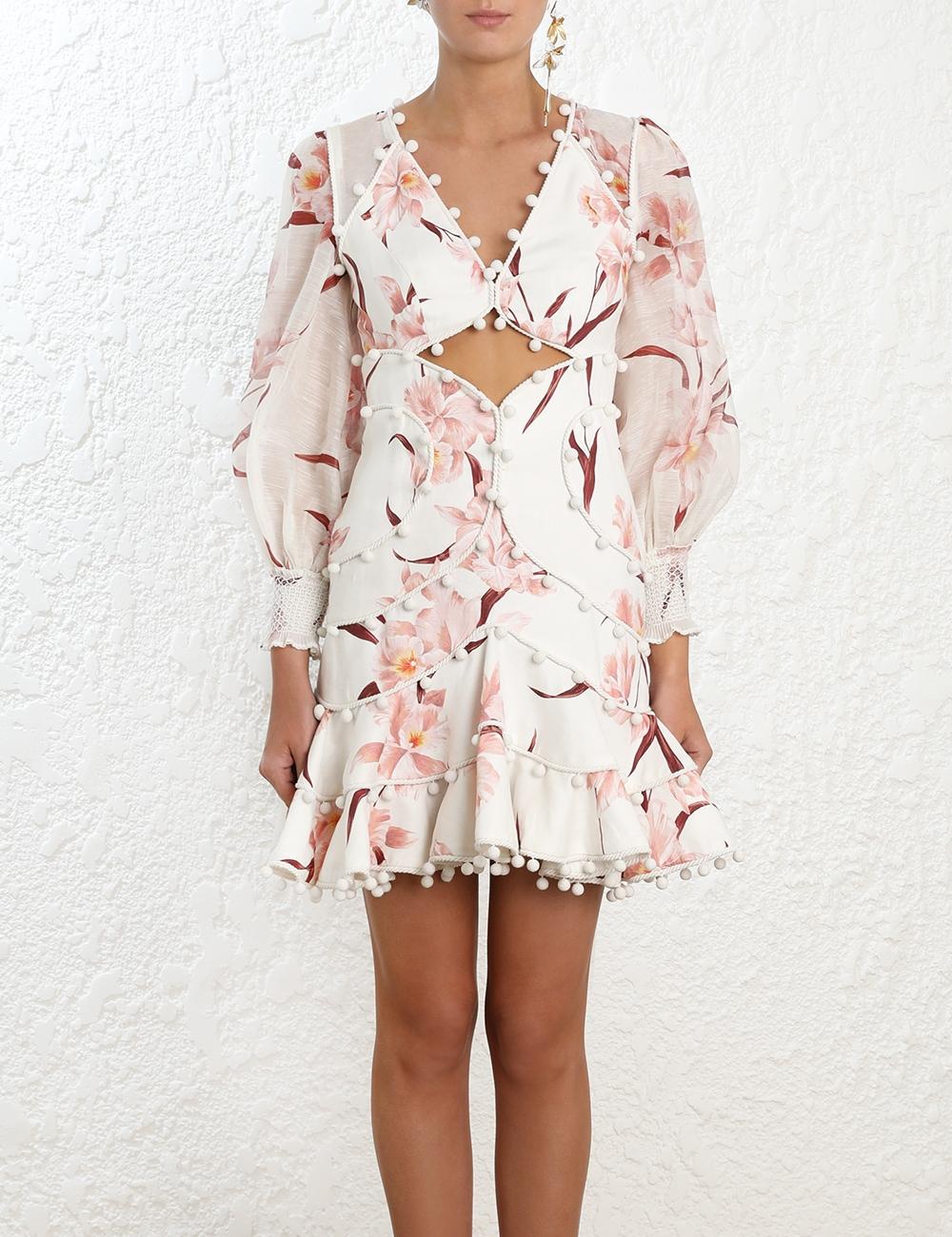 Corsage Bauble Mini Dress