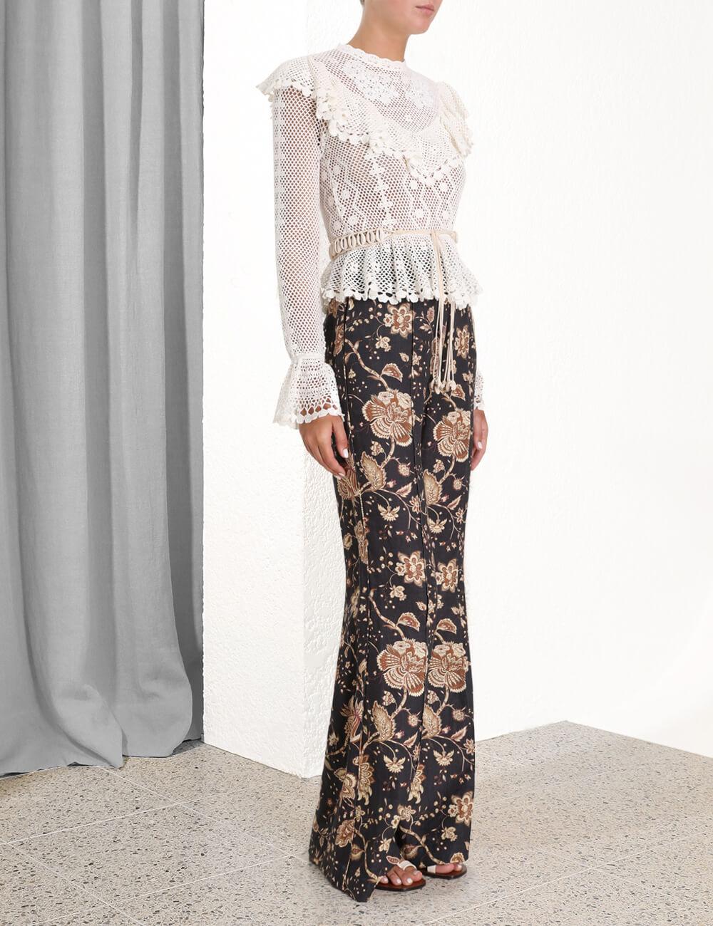 Allia Crochet Top