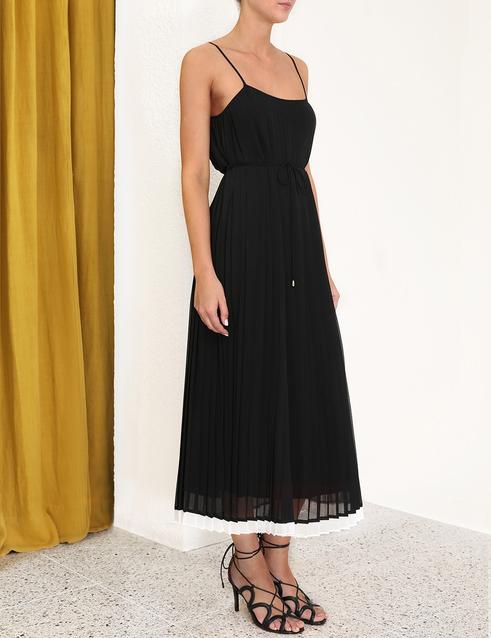 Pleated Slip Dress