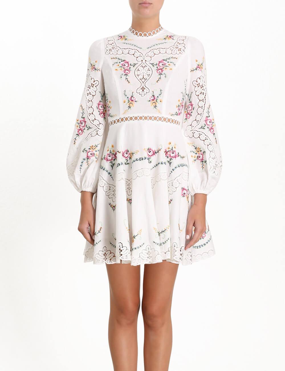Allia Cross Stitch Short Dress